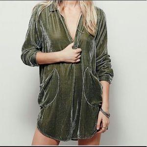 CP SHADES Teton velvet tunic top dress